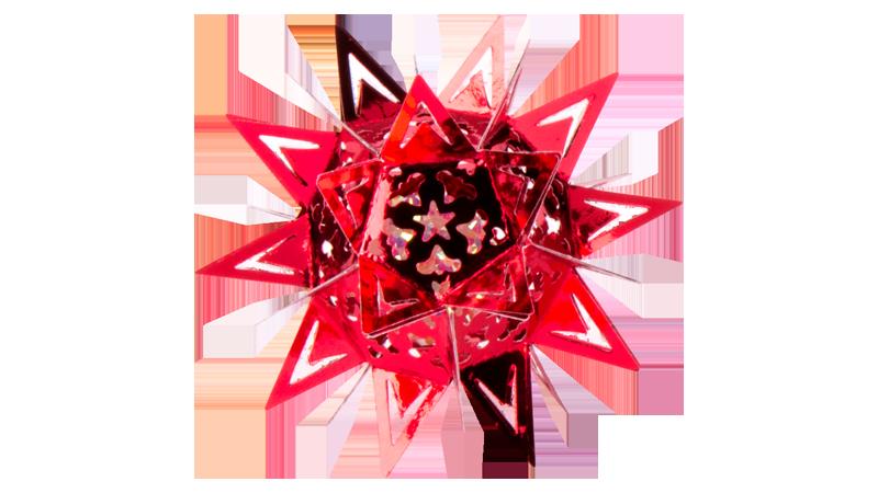Anleitung: 3-D Ornament-Sterne stanzen