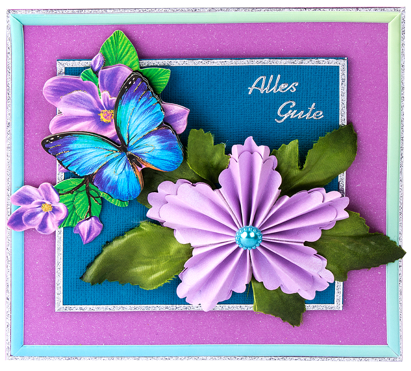 Anleitung: Falt-Blüte mit Wellenrand