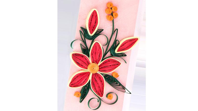 Quilling-Vorlage: Blume