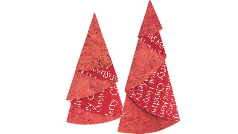 Anleitung: Tannenbäume aus Faltpapier