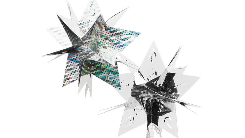 Anleitung: Steck-Sterne aus Doppel-Folie