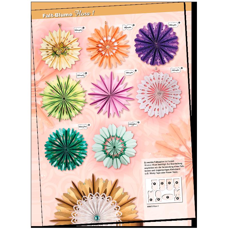 """Design-Übersichten: Falt-Blume """"Flora"""" & Falt-Stern """"Venus"""""""