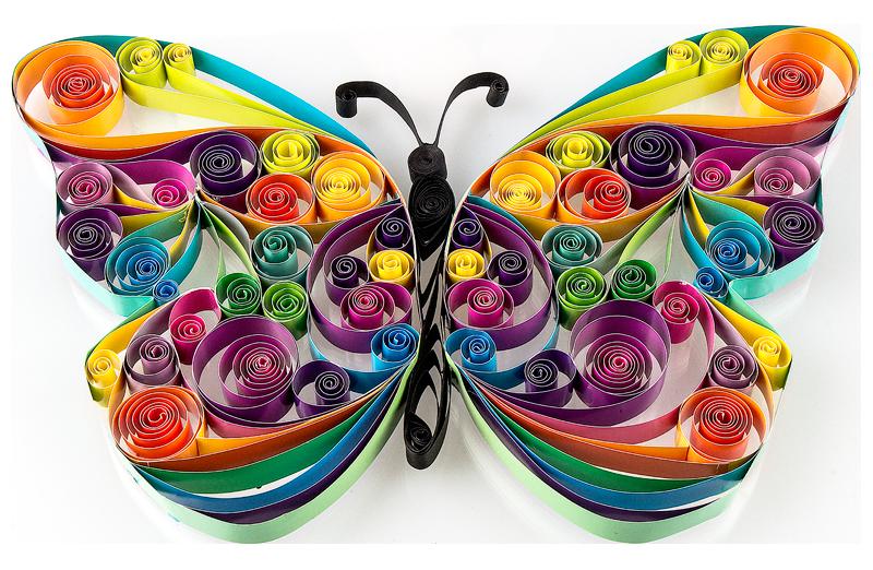 Quilling-Vorlage: Schmetterling