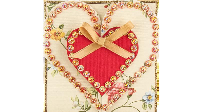 Vorlage: Herz-Grußkarte