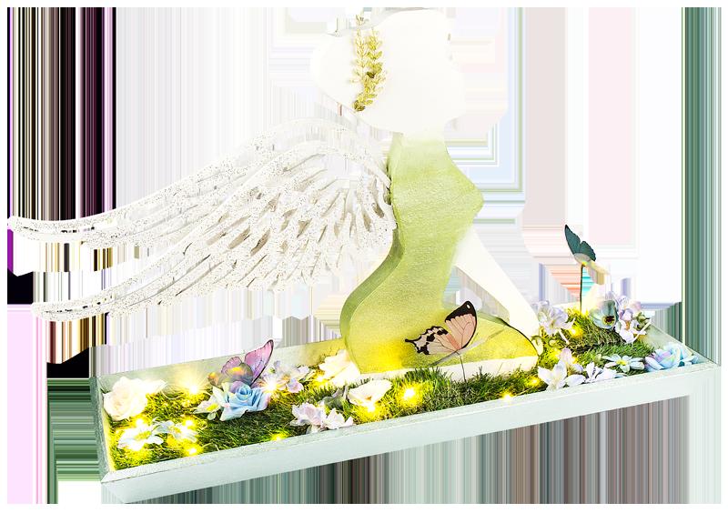 Gestalten Sie Mit Unserer Kurzanleitung Eine Wunderschöne Deko Elfe Mit  Flügeln Aus Holz.