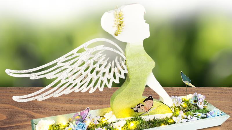 Bastelidee: Elfe mit Holz-Flügeln