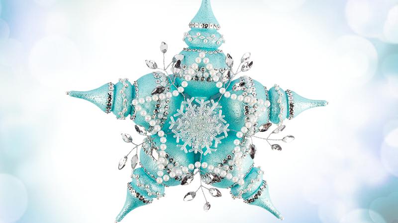 Anleitung: Eiskristall aus Styropor-Kugeln