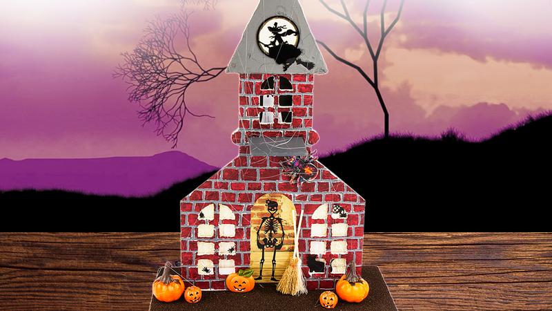 Bastelidee: Geisterhaus für Halloween