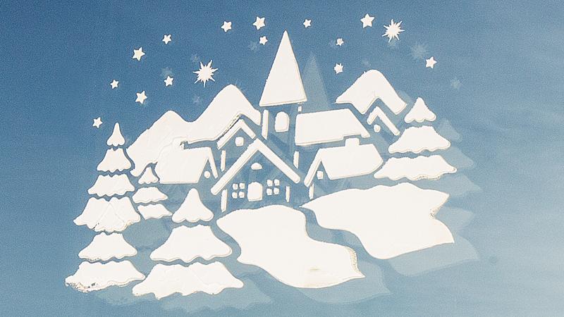 Anleitung: Fensterbilder mit Fenster-Schnee