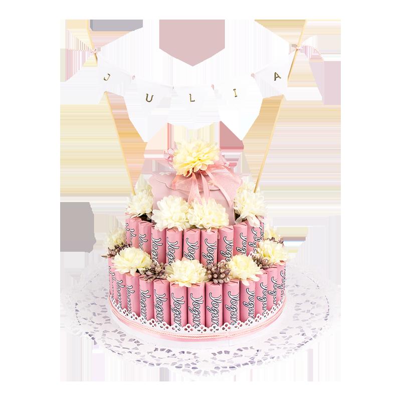 Anleitung: Styropor-Torte mit Schokoriegeln - Ideen mit Herz