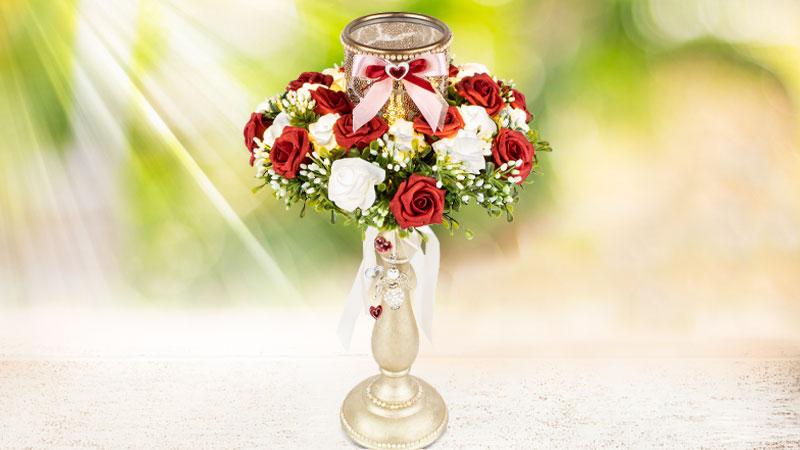 Bastelidee: Beleuchteter Blumengruß
